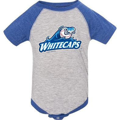 West Michigan Whitecaps Infant Royal/Grey Baseball Onesie