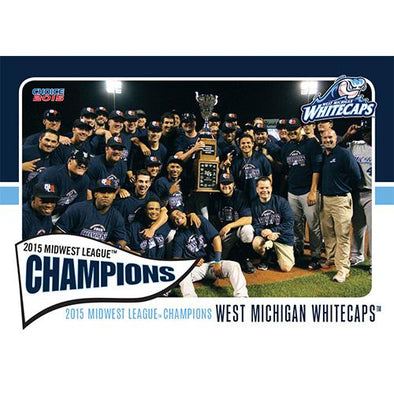 West Michigan Whitecaps 2015 MWL Champions Team Card Set