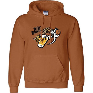West Michigan Whitecaps Beer City Bung Hammers Rust Hoodie