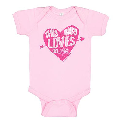 West Michigan Whitecaps Infant Pink Heart Onesie