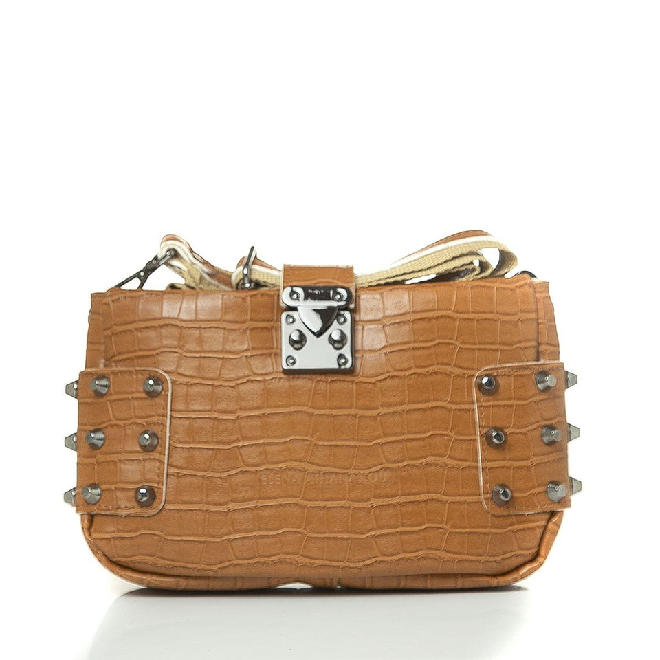City Lady Clutch Croco Cognac
