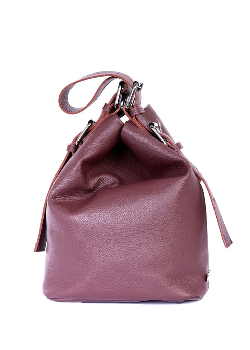 Day to Evening Pouch Bag L Burgundy