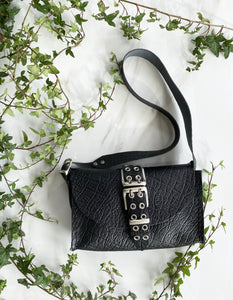 """MYSTERY OF LOVE"" BLACK nickel SHOULDER BAG"