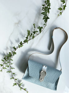 """I AM FREE"" SMALL BABY BLUE SHOULDER BAG"