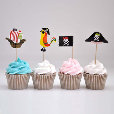 60pcs/pack Pirate Cupcake Toppers