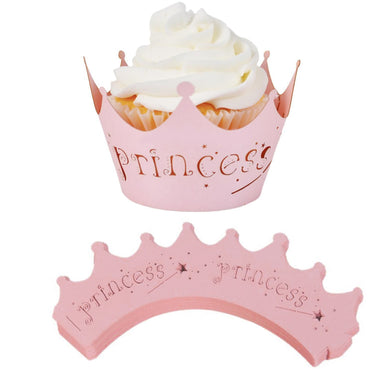 10pcs/Pack Princess Crown Cupcake Wrapper