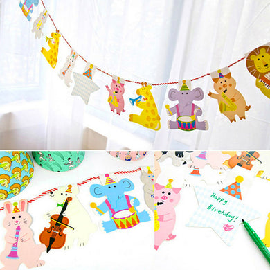 15Pcs/Pack Animal Garland