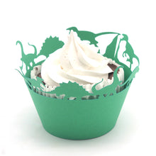 50pcs Green Dinosaur Cupcake Wrappers,