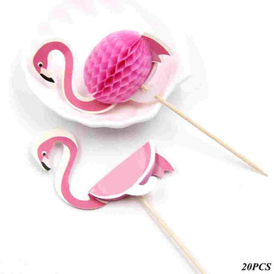 20PCS Flamingo Picks