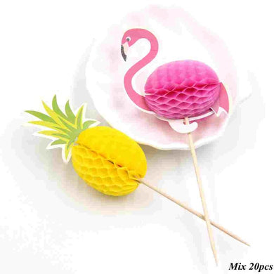 20PCS Flamingo Pinapple Picks