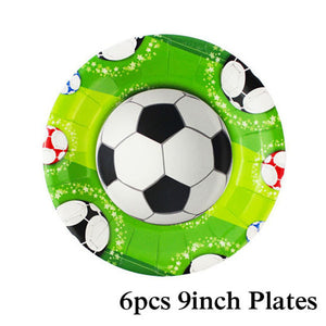 Football Birthday Party 9 Inch Plates