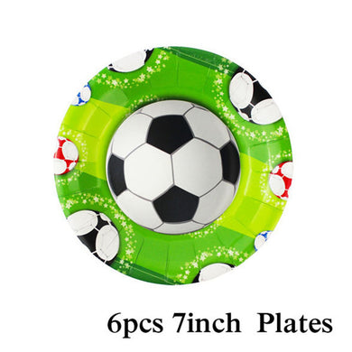 Football Birthday Party 7 Inch Plates
