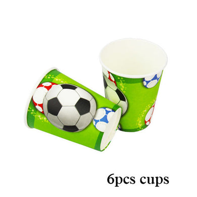 Football Birthday Party Cups