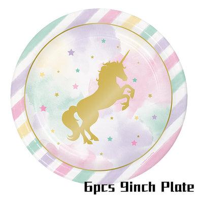 Unicorn Party 9 Inch Paper Plates