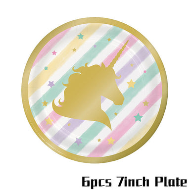 Unicorn Party Paper Plate