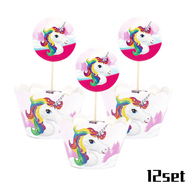 Unicorn Party Cupcake Sets