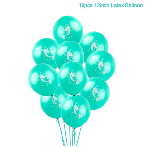 Mermaid Blue And Pink Balloons