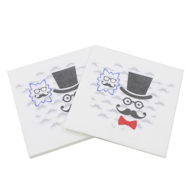 20pcs /lot Moustache Paper Napkin