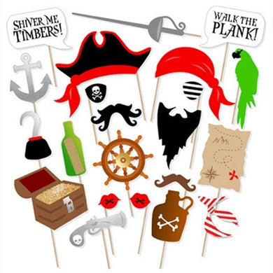 22 Pirate Photo Booth Props