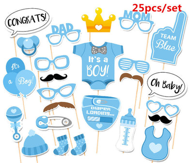 Boy Party Photo Booth Props