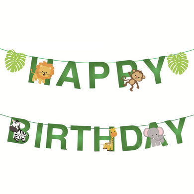 Happy Birthday Animal Paper Banner