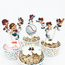 24pcs  Baseball Cupcake Topper