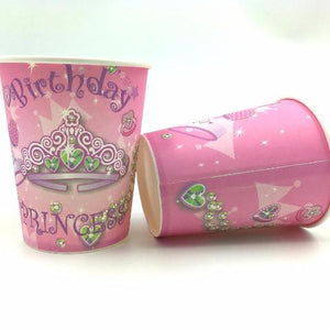 Princess Crown 20pcs paper cups+20pcs plates+20pcs napkins