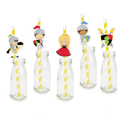 Princess and Knights Party Straw 25PCS