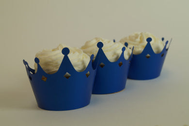 Royal Blue Prince Cupcake Wrappers