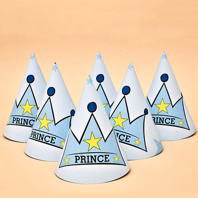 Prince  Party 6 Pcs Paper Hats