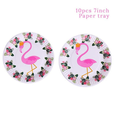 Flamingo Party Paper Plate