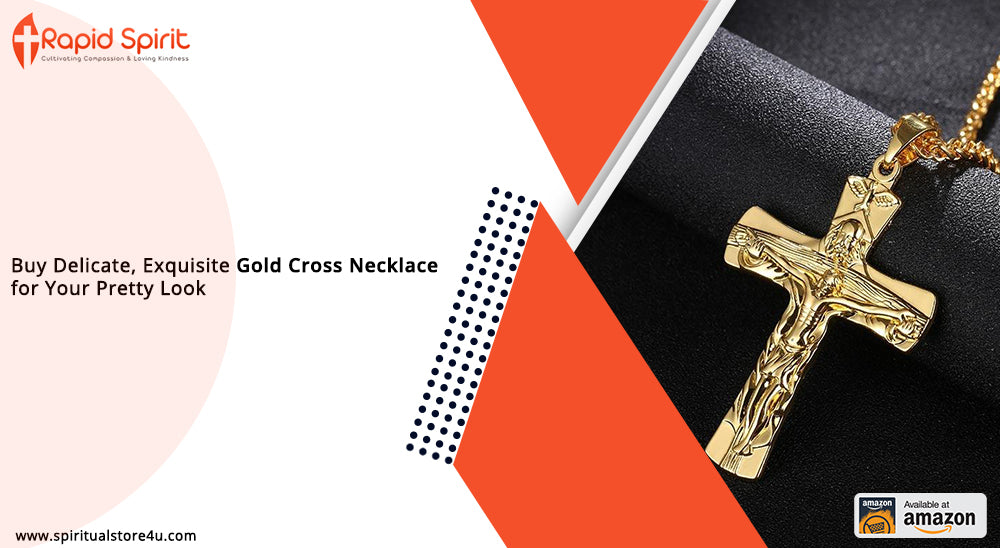 Buy Delicate, Exquisite Gold Cross Necklace for Your Pretty Look