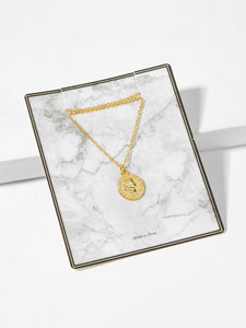 Women's Gold Coin Pendant Chain Necklace
