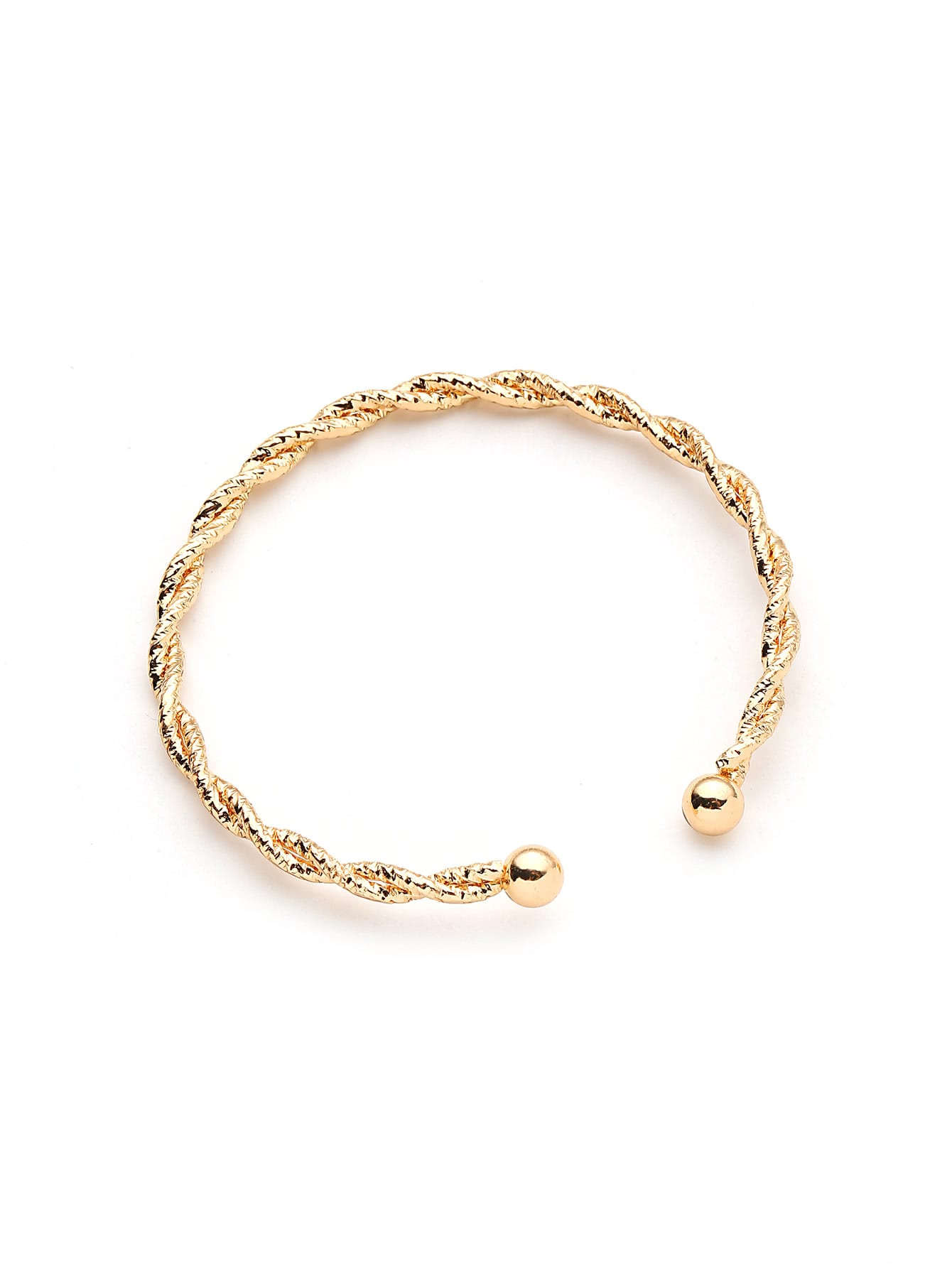 Women's Gold Plated Woven Design Bracelet