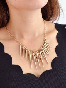 Women's Gold Spike Pendant Necklaces