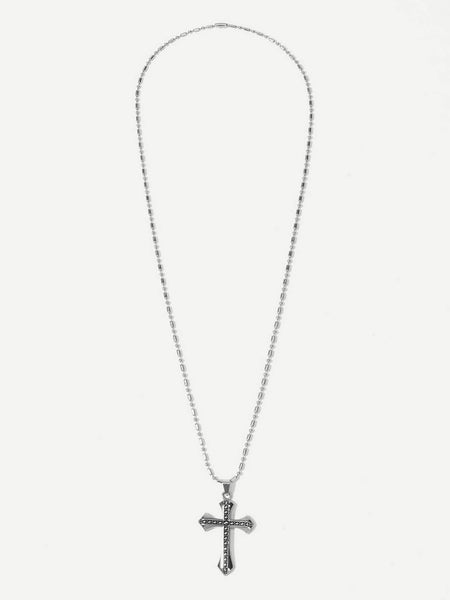 Men's Stainless Steel Cross Pendant Necklace