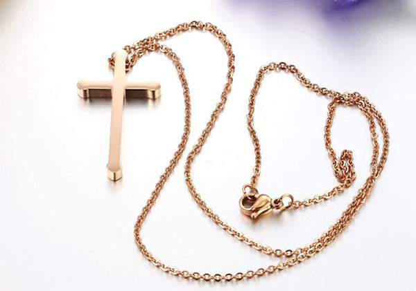 Stainless Steel Cross Pendant Necklace Chain For Women From RAPID SPIRIT - Spiritualstore4u