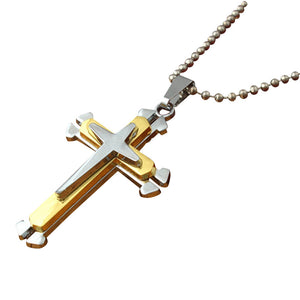 Men's Stainless Steel Cross Pendant Necklace Chain Unisex From RAPID SPIRIT - Spiritualstore4u