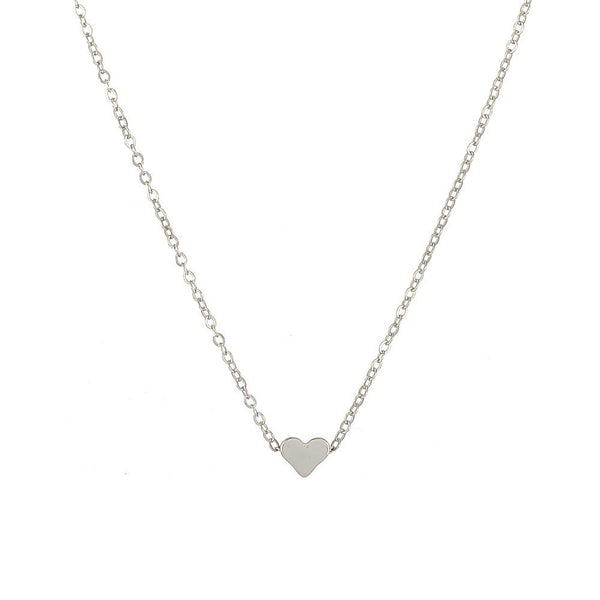 Women's Crystal Heart Romantic Fashion Classic Luxury Rhinestones Necklace