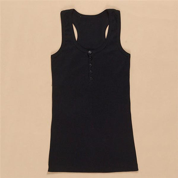 Women Tank Top Summer Solid
