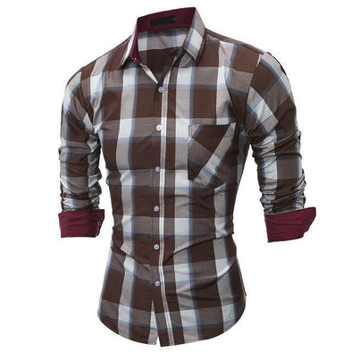 Casual Men's Shirts Long Sleeve