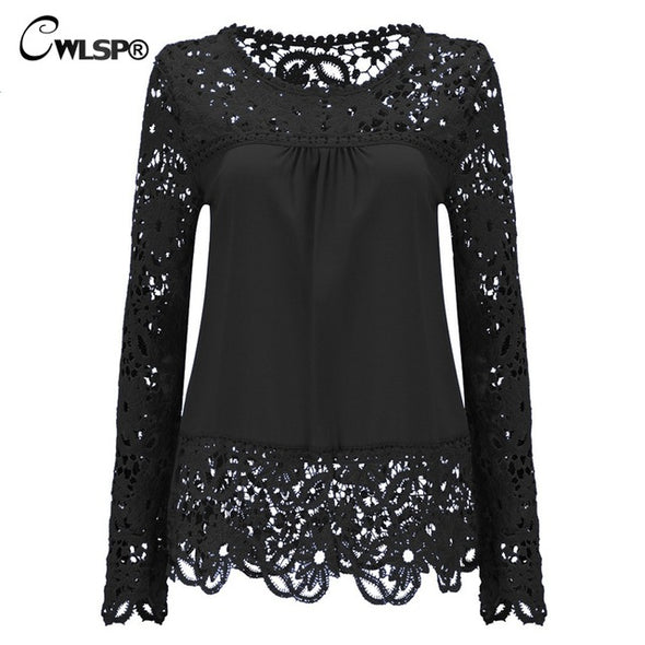 Chiffon Blouse Shirt Long Sleeve