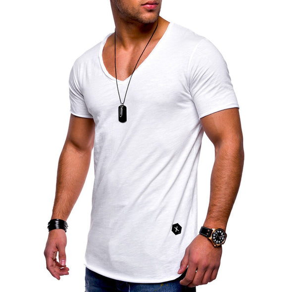 V -Neck Slim Fit Muscle T-Shirt