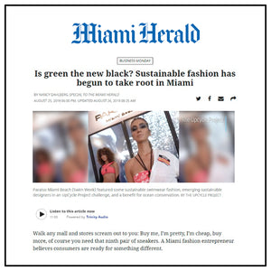 Is green the new black? Sustainable fashion has begun to take root in Miami | Miami Herald