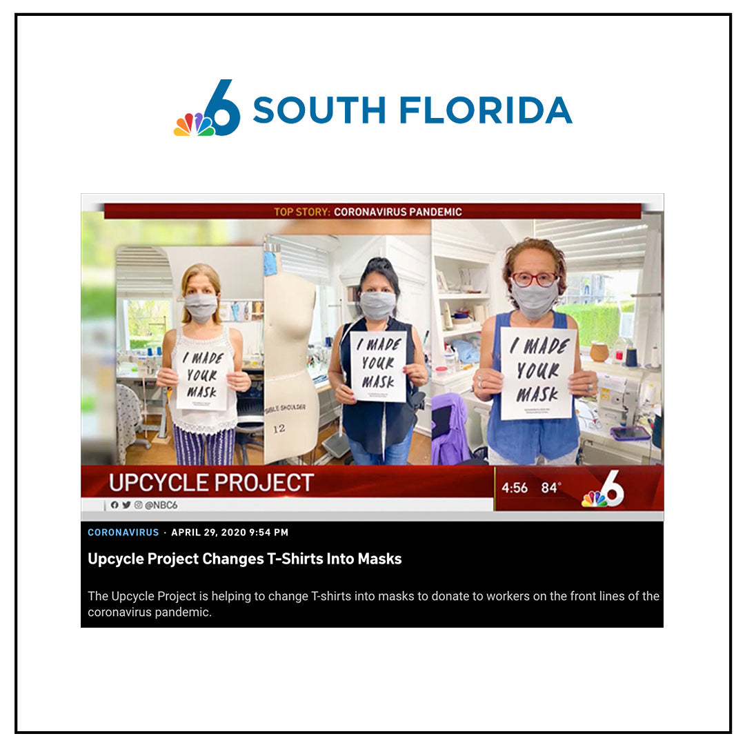 The Upcycle Project Foundation COVID-19 Face Masks NBC 6 South Florida Gabriella Smith