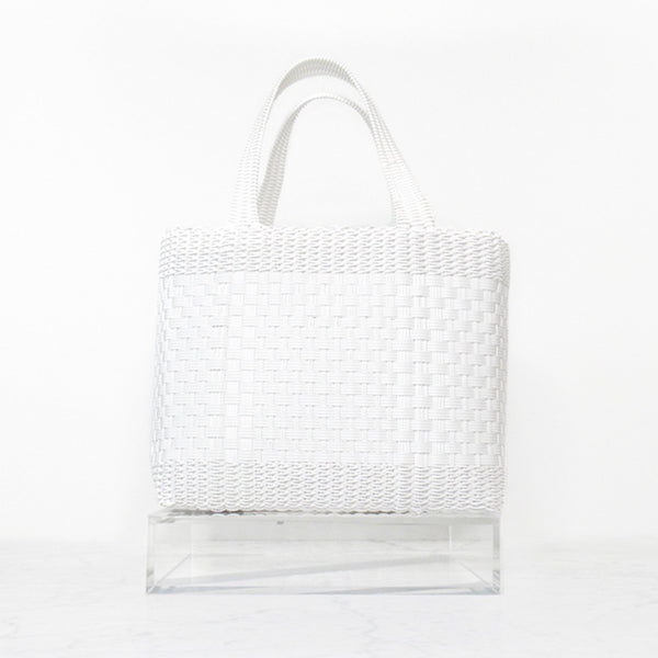 UpCycle Project Recycled woven plastic tote bag sustainable handmade artisanal