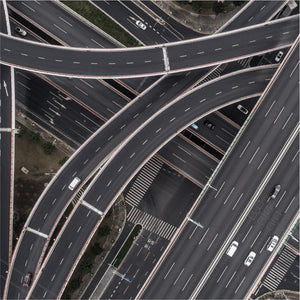 A birds eye view of multiple different roads