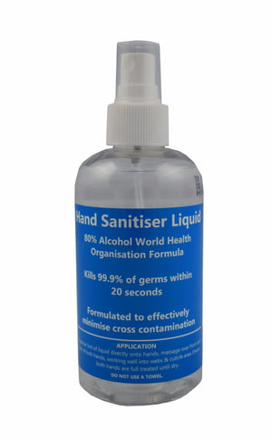 HS001-125 80% Alcohol Hand Sanitiser Liquid (125ml)