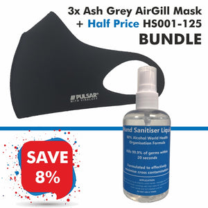 3 Black AirGill Face Masks + Half Price HS001-125