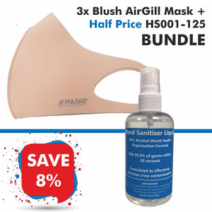 3 Blush AirGill Face Masks + Half Price HS001-125